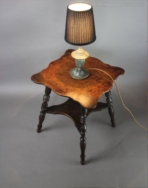 Small antique oak lamp table antiques atlas for Oak lamp table 60cm high