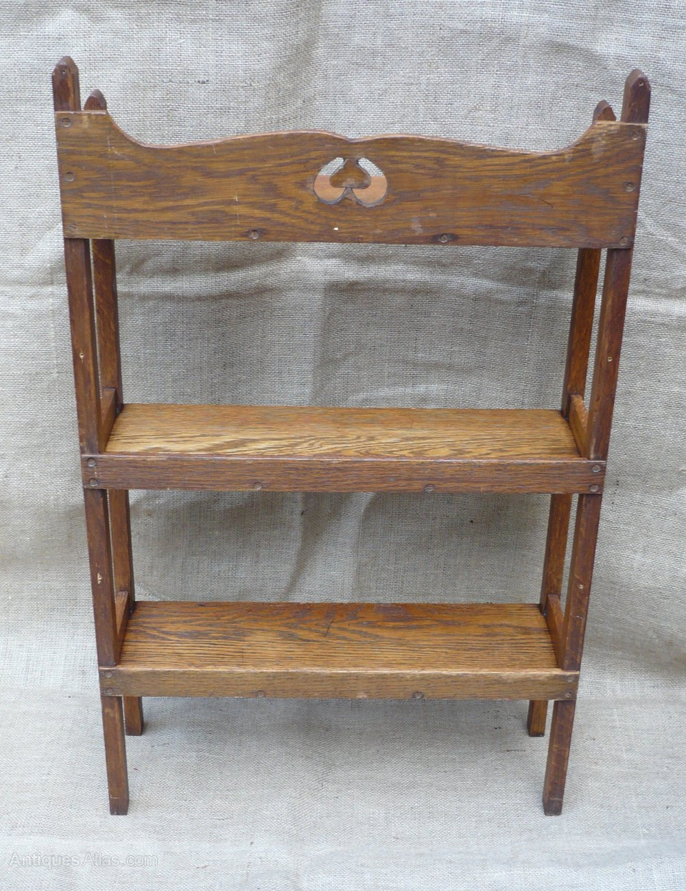 Small arts and crafts bookcase in oak antiques atlas for Arts and crafts bookshelf