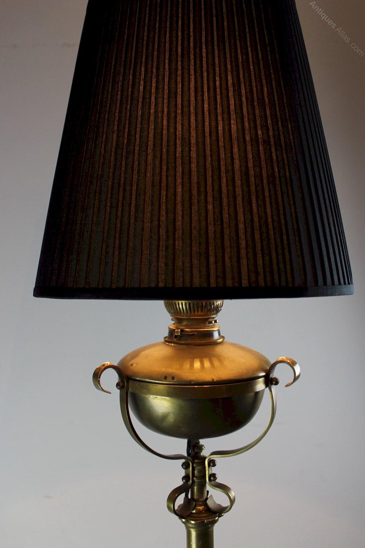 Antiques Atlas Victorian Brass Standard Lamp Hinks Or Benson