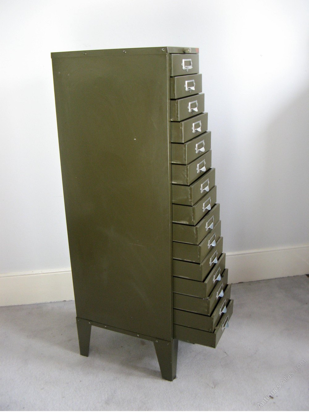 Green File Cabinet Antiques Atlas Vintage Metal Green Filing Cabinet By Howden