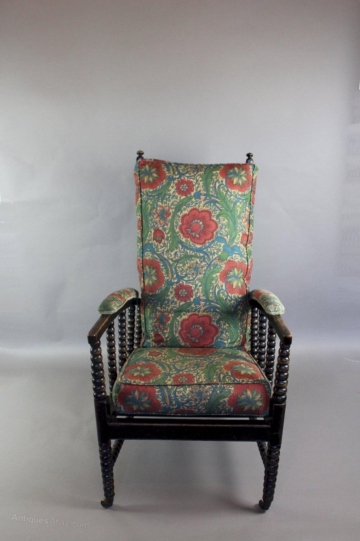 William Morris Type Adjustable Reclining Armchair ...