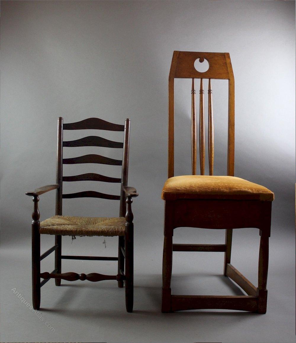 arts and crafts child 39 s oak chair ernest gimson antiques. Black Bedroom Furniture Sets. Home Design Ideas
