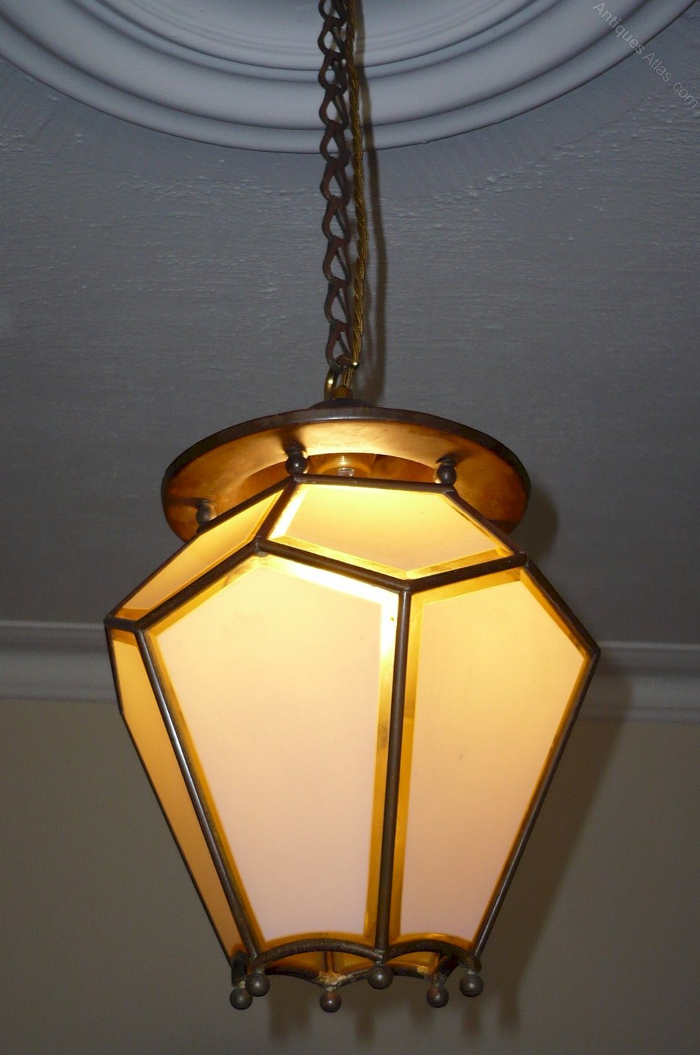 Antiques atlas arts and crafts copper ceiling light for Arts and crafts light