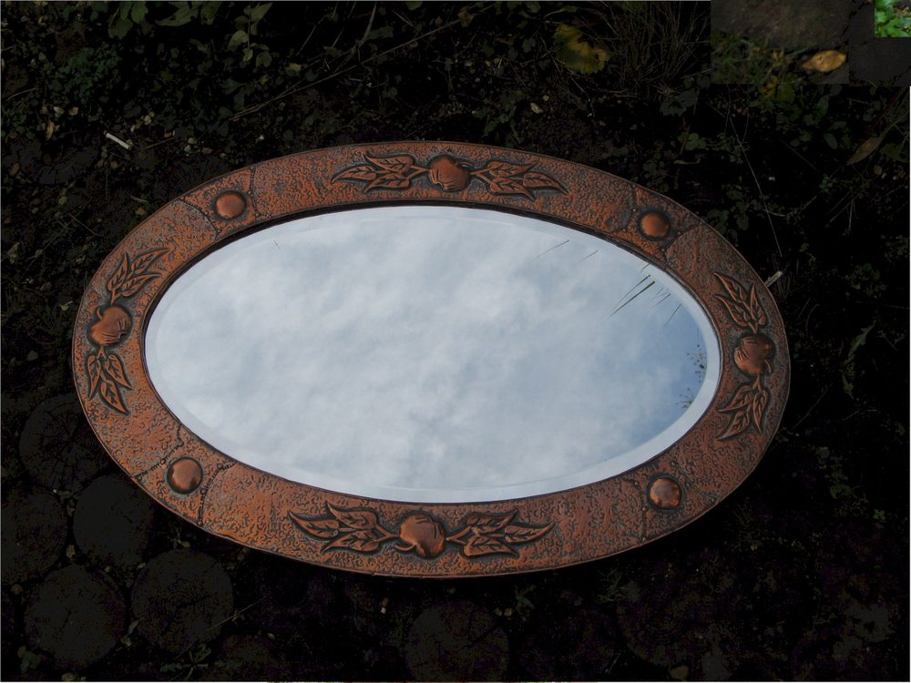Antiques Atlas Arts And Crafts Copper Mirror