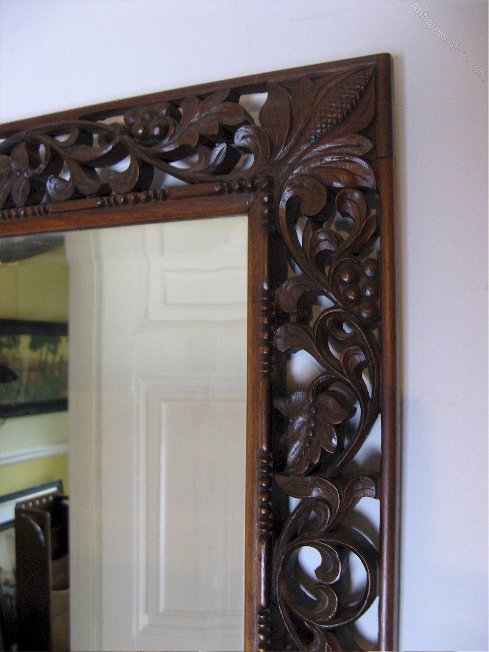 Antiques Atlas Carved Framed Mirror Anglo Indian