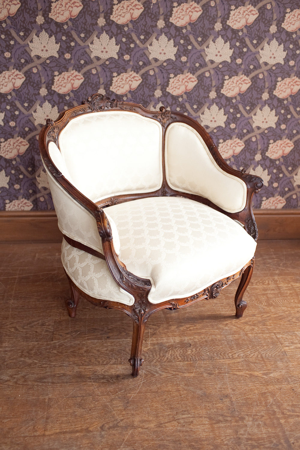Antique tub chairs -  Antiques And Interiors A French Carved Tub Chair