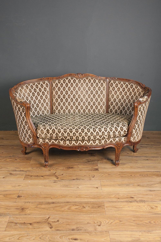 A french walnut canap antiques atlas - Canape suedois vintage ...