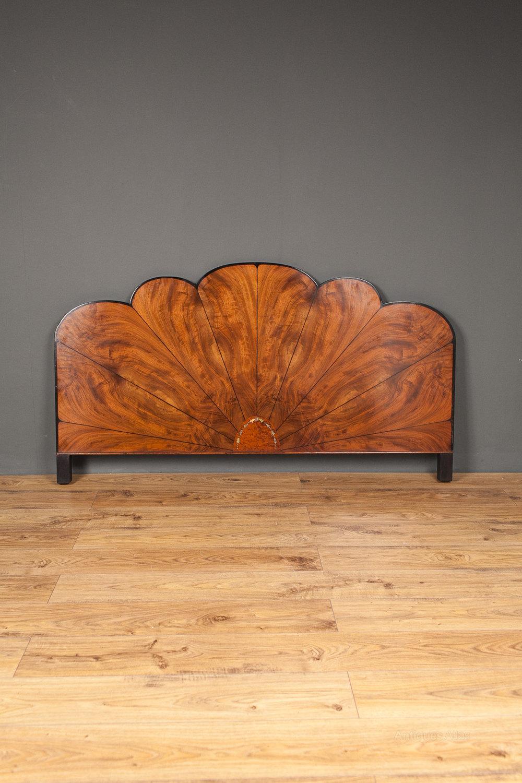 Art Deco Walnut Bed Head Board Antiques Atlas