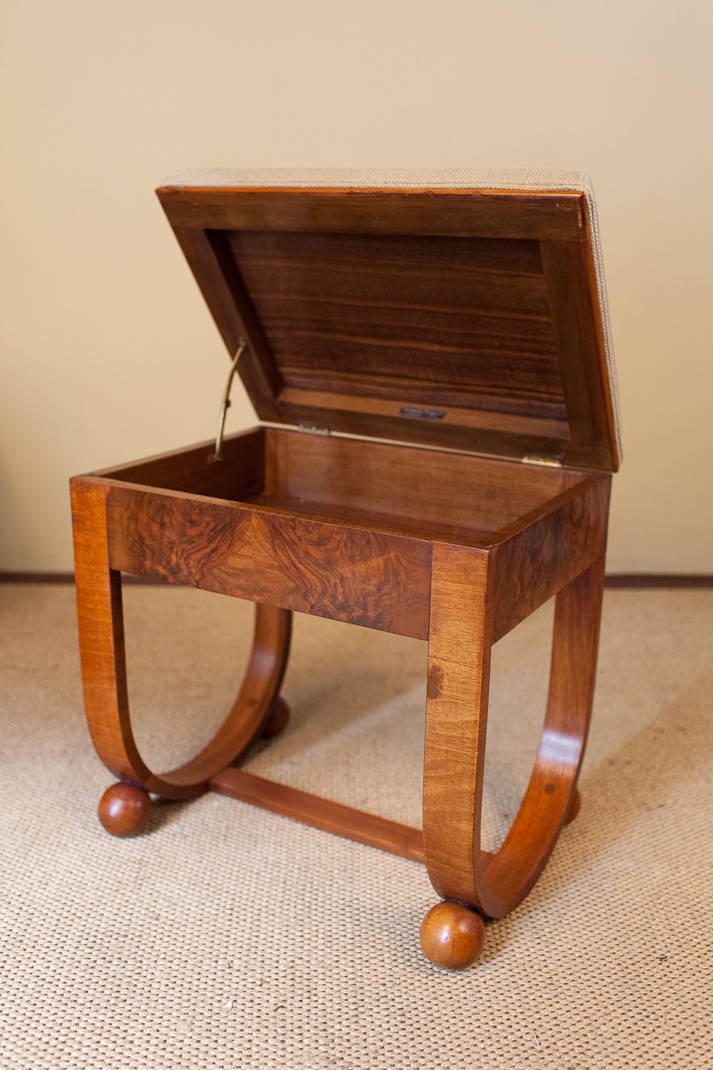 Art Deco Walnut Piano Stool Antiques Atlas