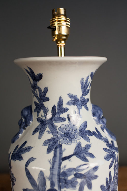 Antiques Atlas Chinese Blue And White Porcelain Table Lamp