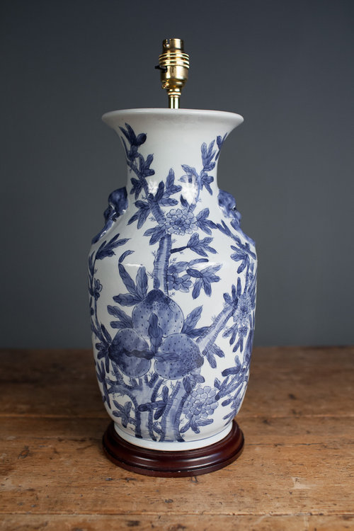 Chinese Blue And White Porcelain Table Lamp.