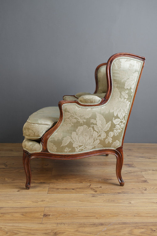 French Walnut Bergere Arm Chair Antiques Atlas