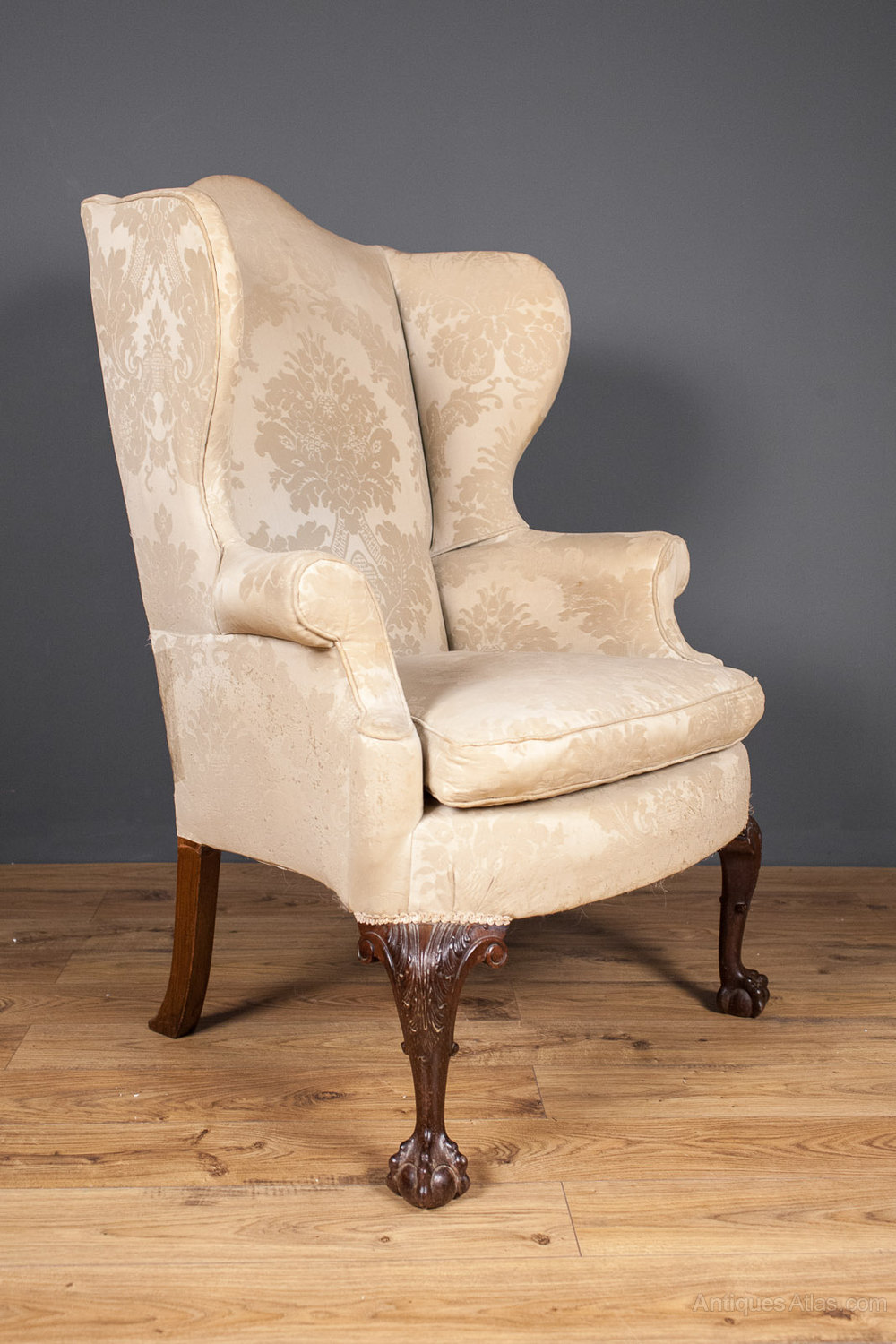 George III Style Wing Back Arm Chair
