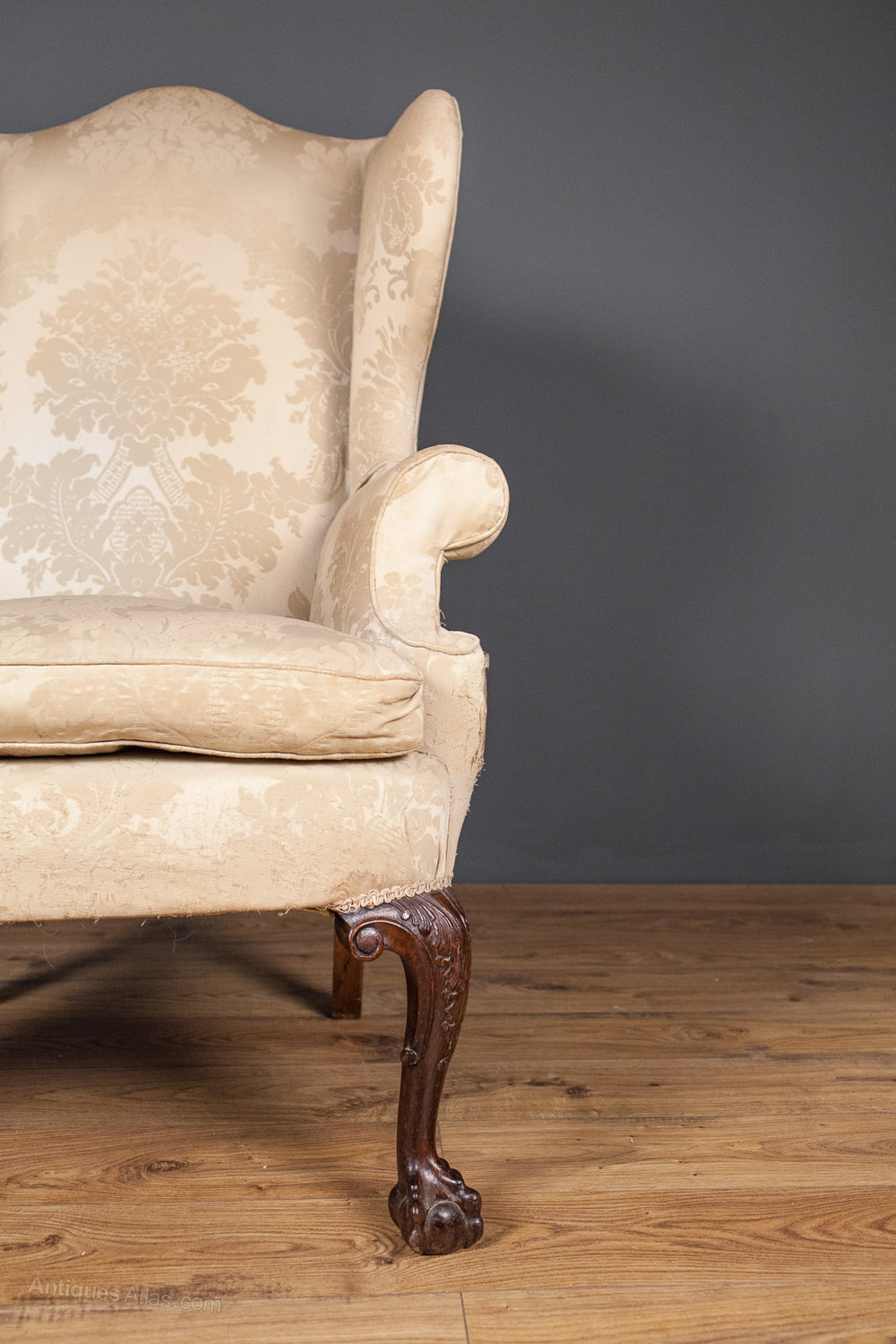 George Iii Style Wing Back Arm Chair Antiques Atlas