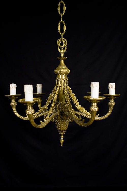 Antiques Atlas Gilt Brass Six Branch Chandelier
