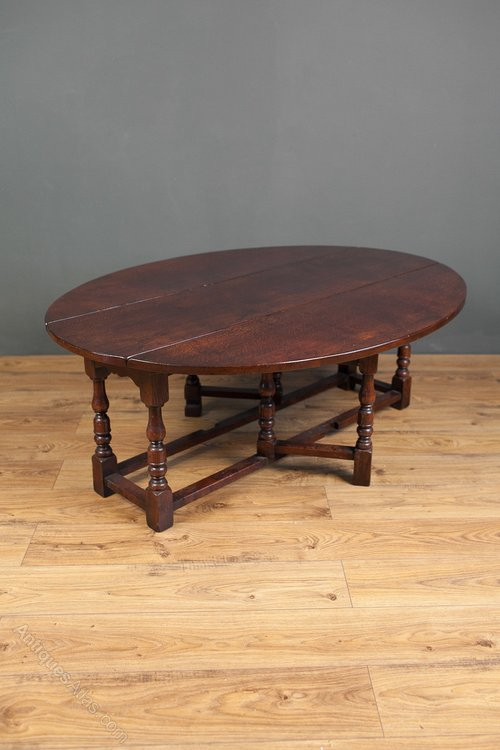 Antiques Atlas Jacobean Revival Oak Gateleg Coffee Table