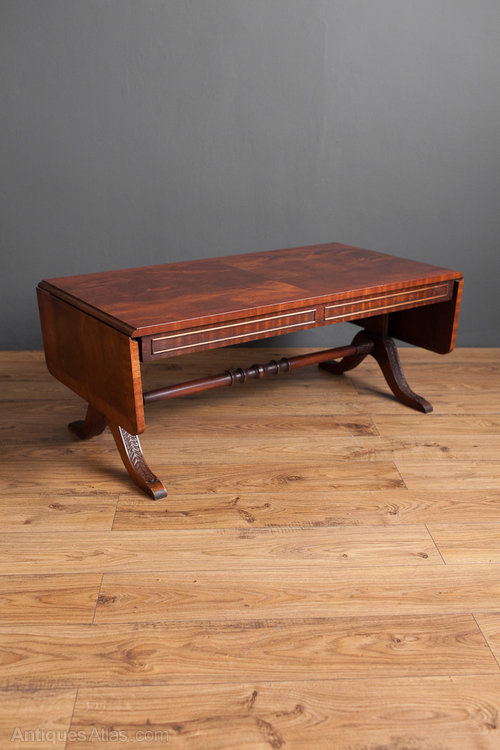 Antiques Atlas Mahogany Coffee Table With Drop Leaves