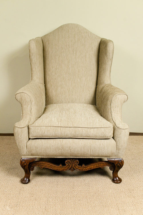 Queen Anne Style Wing Chair Antiques Atlas