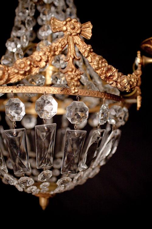 Antiques Atlas Three Branch Cut Glass Chandelier