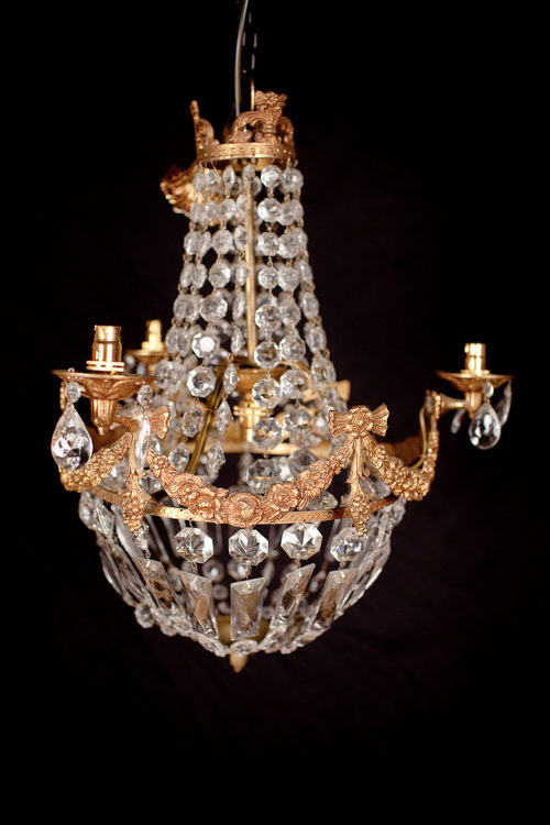 Antiques Atlas Three Branch Cut Glass Chandelier