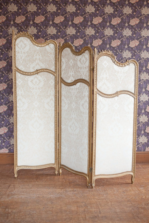 Wooden Dressing Screen ~ Three fold dressing screen antiques atlas