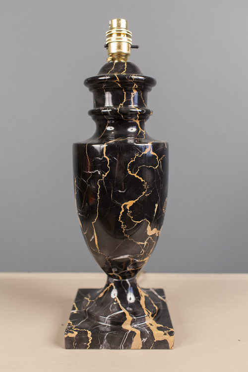 Antiques Atlas Variegated Black Marble Table Lamp
