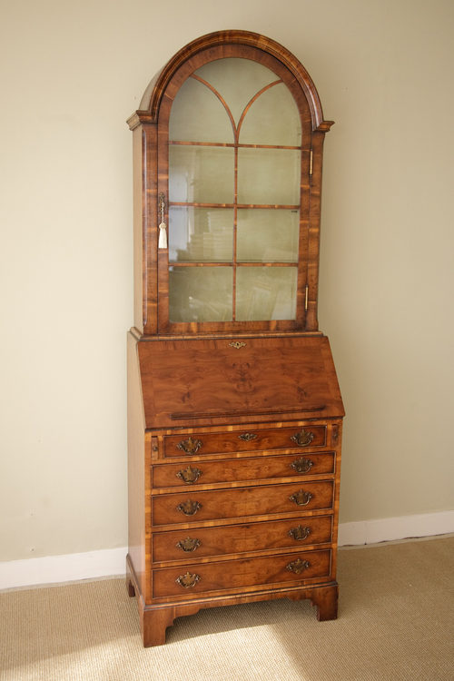 antiques atlas yew dome top bureau bookcase. Black Bedroom Furniture Sets. Home Design Ideas