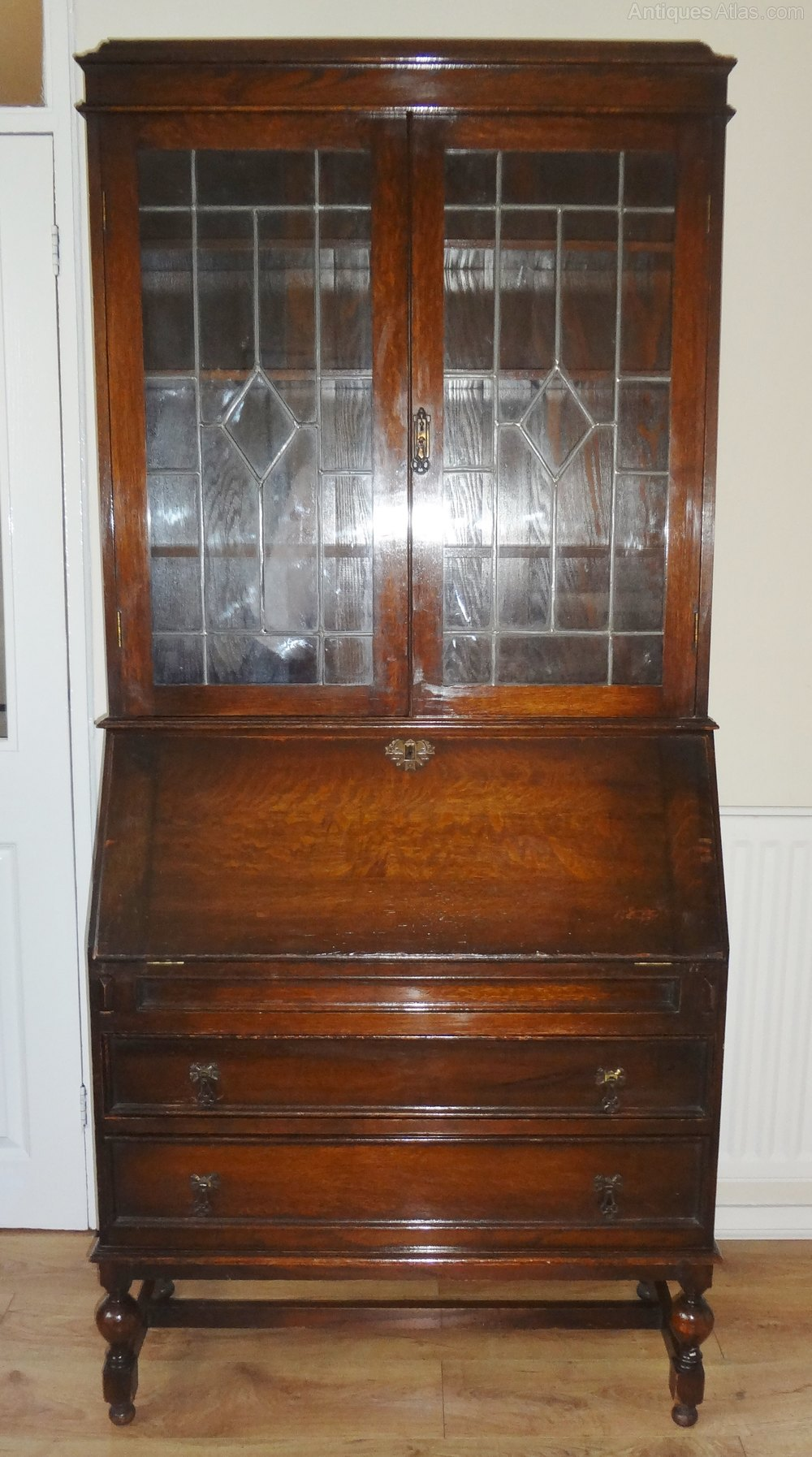 Antique Oak Bureau Bookcase Antiques Atlas