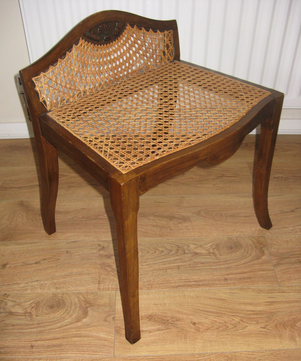 Antiques atlas bergere deco dressing table piano stool for Table bergere