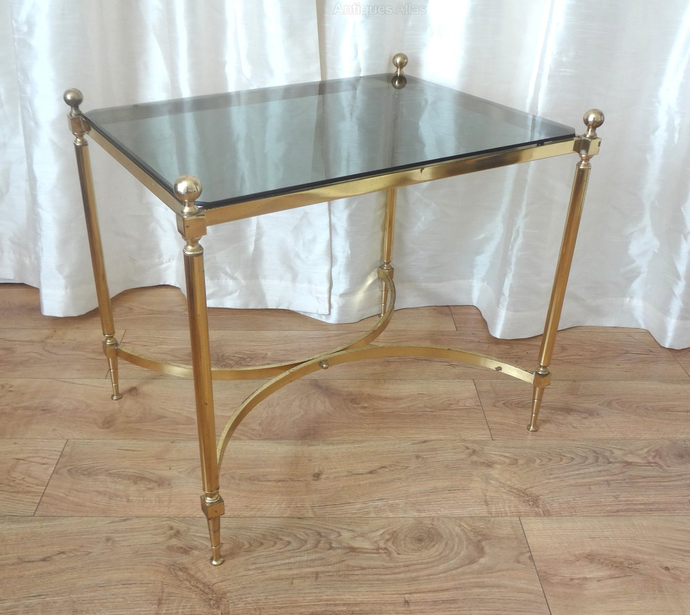 Antiques Atlas Brass And Glass Side Table