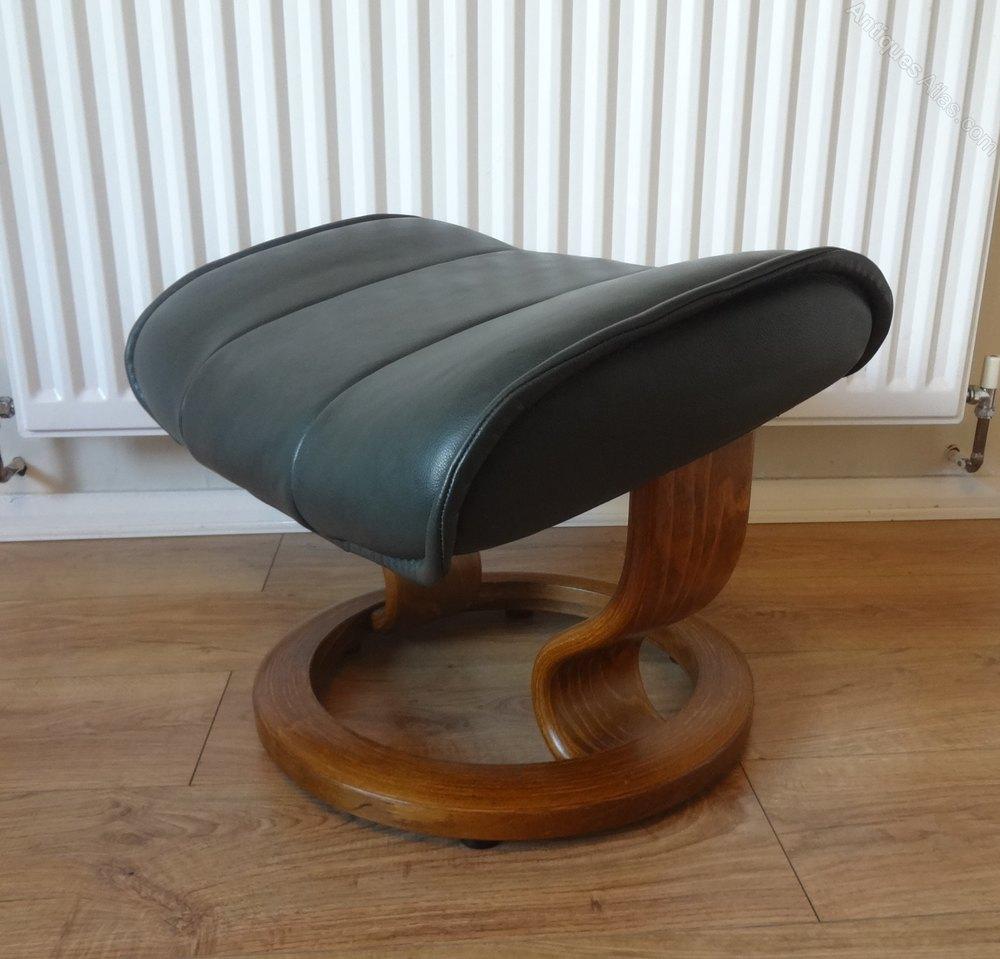 antiques atlas ekornes stressless recliner leather footstool