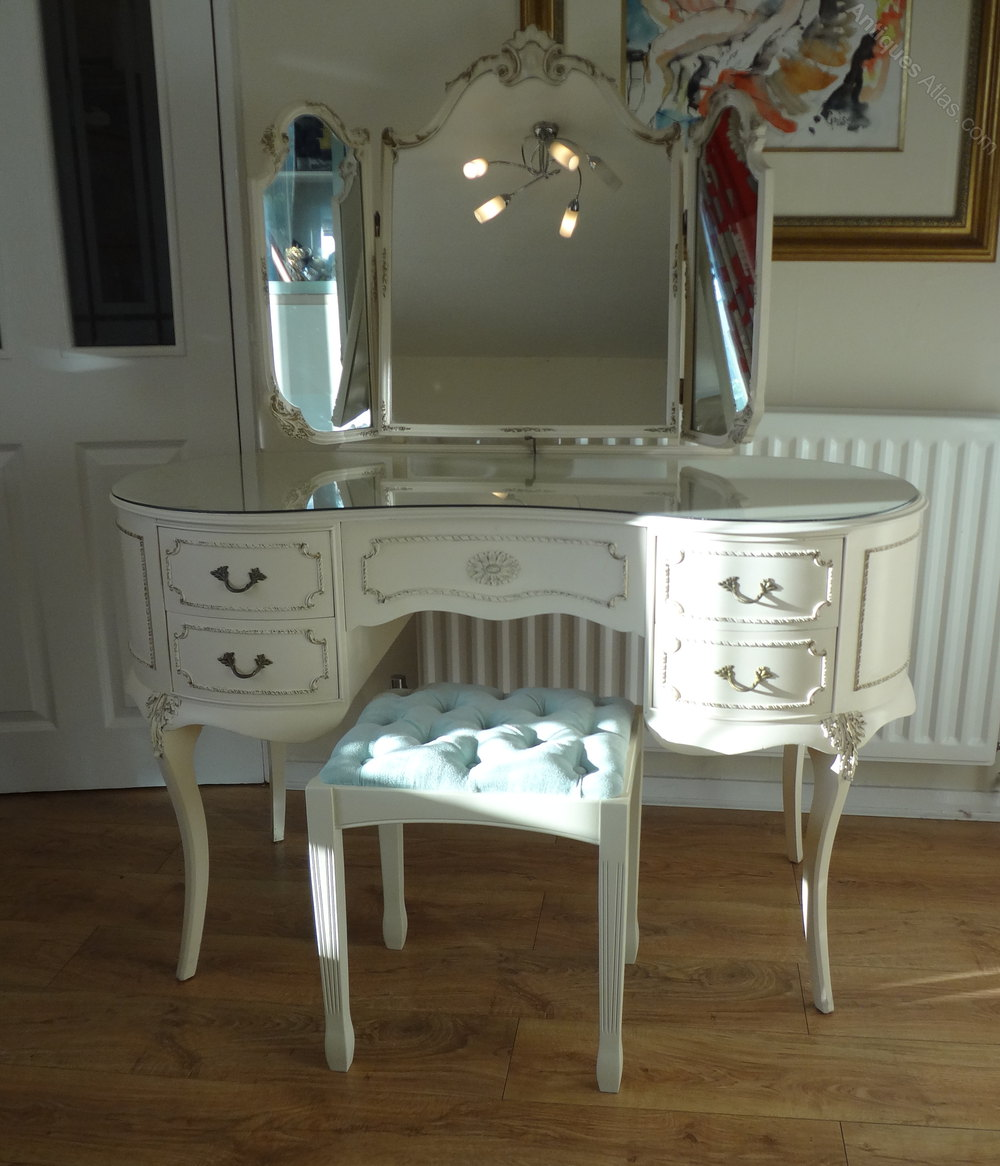 Antiques atlas french louis dressing table stool - Stool for vanity table ...