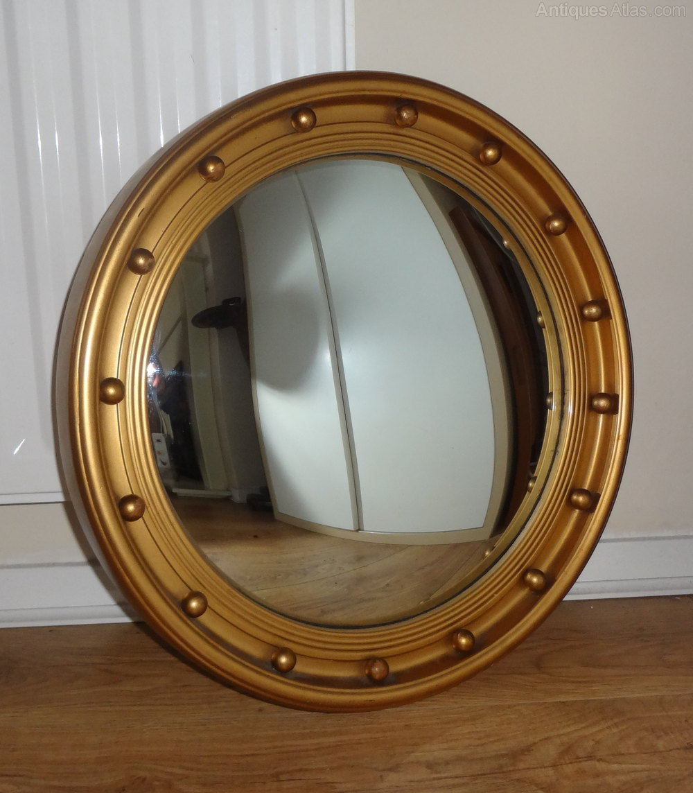 Antiques atlas vintage convex mirror for Convex mirror