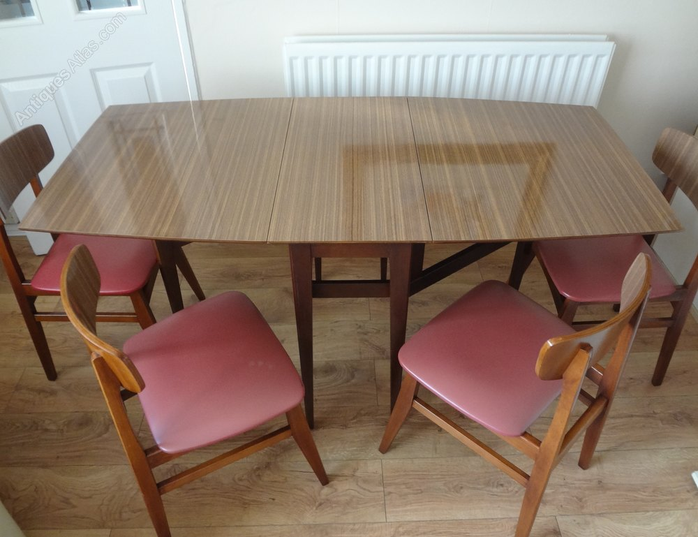 Antiques Atlas - Retro Formica Dining Table u0026 Chairs
