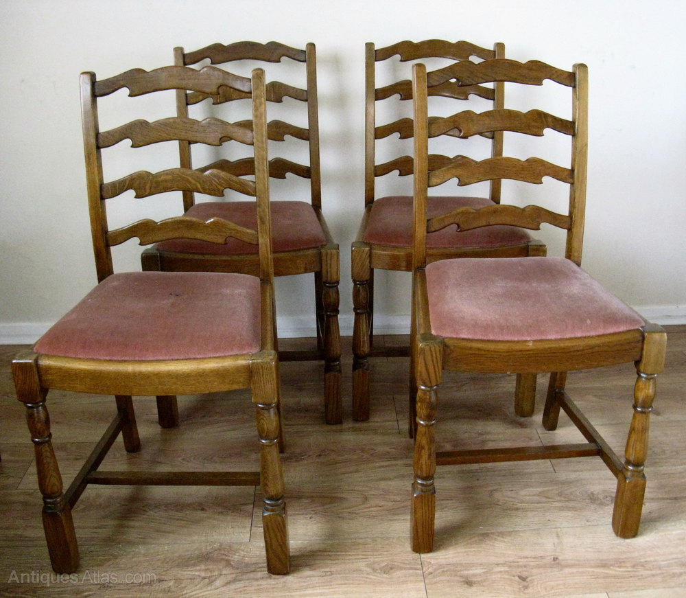 Antiques Atlas Oak Ladder Back Dining Chairs