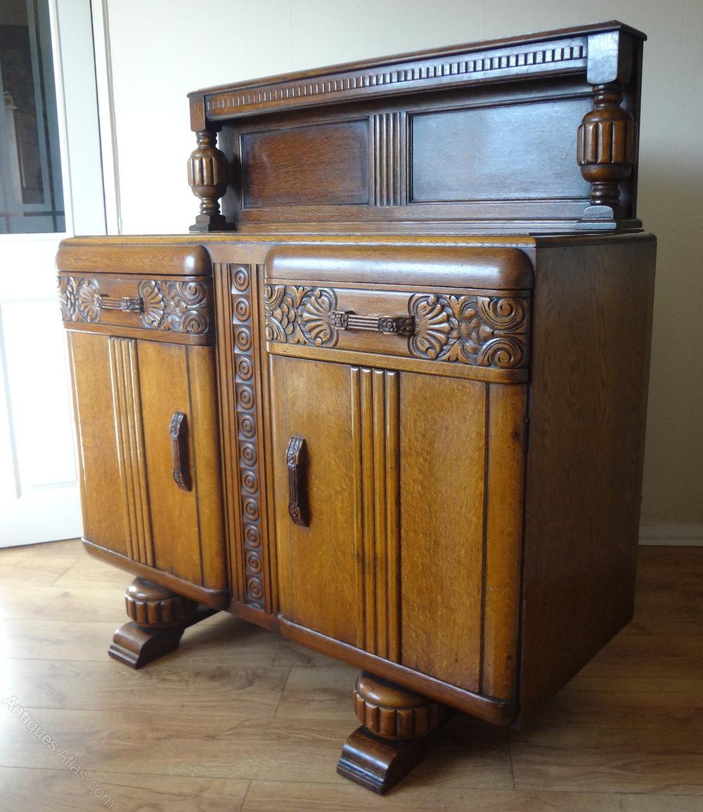 antiques atlas oak carved sideboard. Black Bedroom Furniture Sets. Home Design Ideas