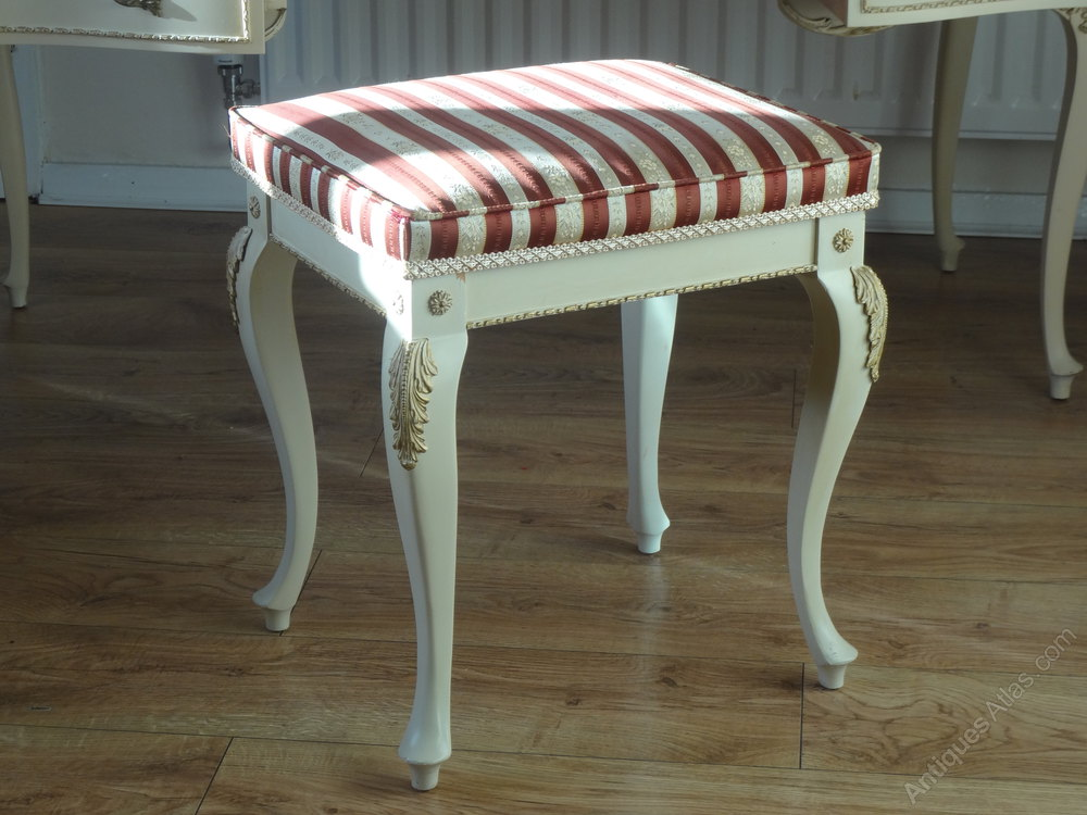 Antiques Atlas Painted French Louis Dressing Table Amp Stool