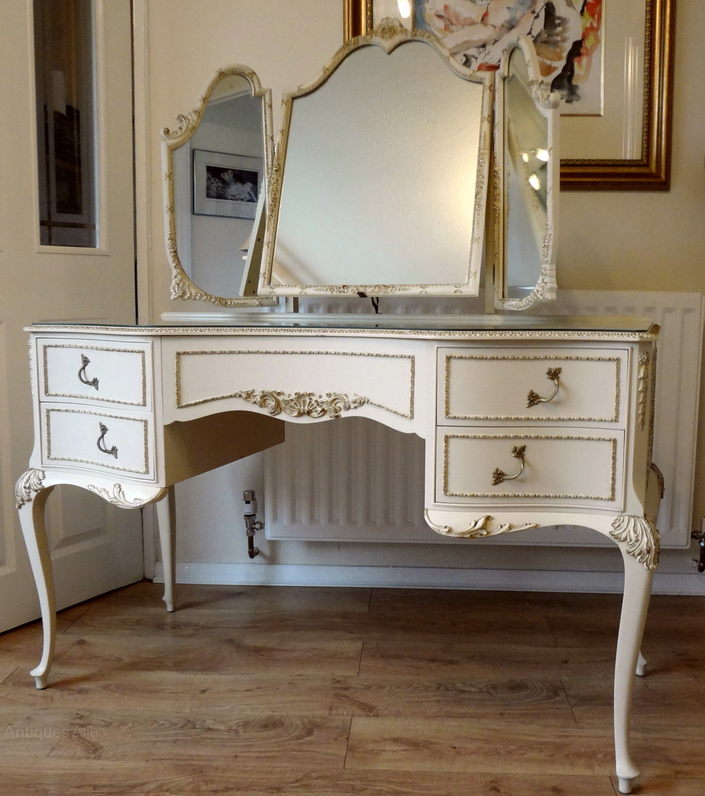 Painted Dressing Table ~ Antiques atlas painted french louis dressing table stool