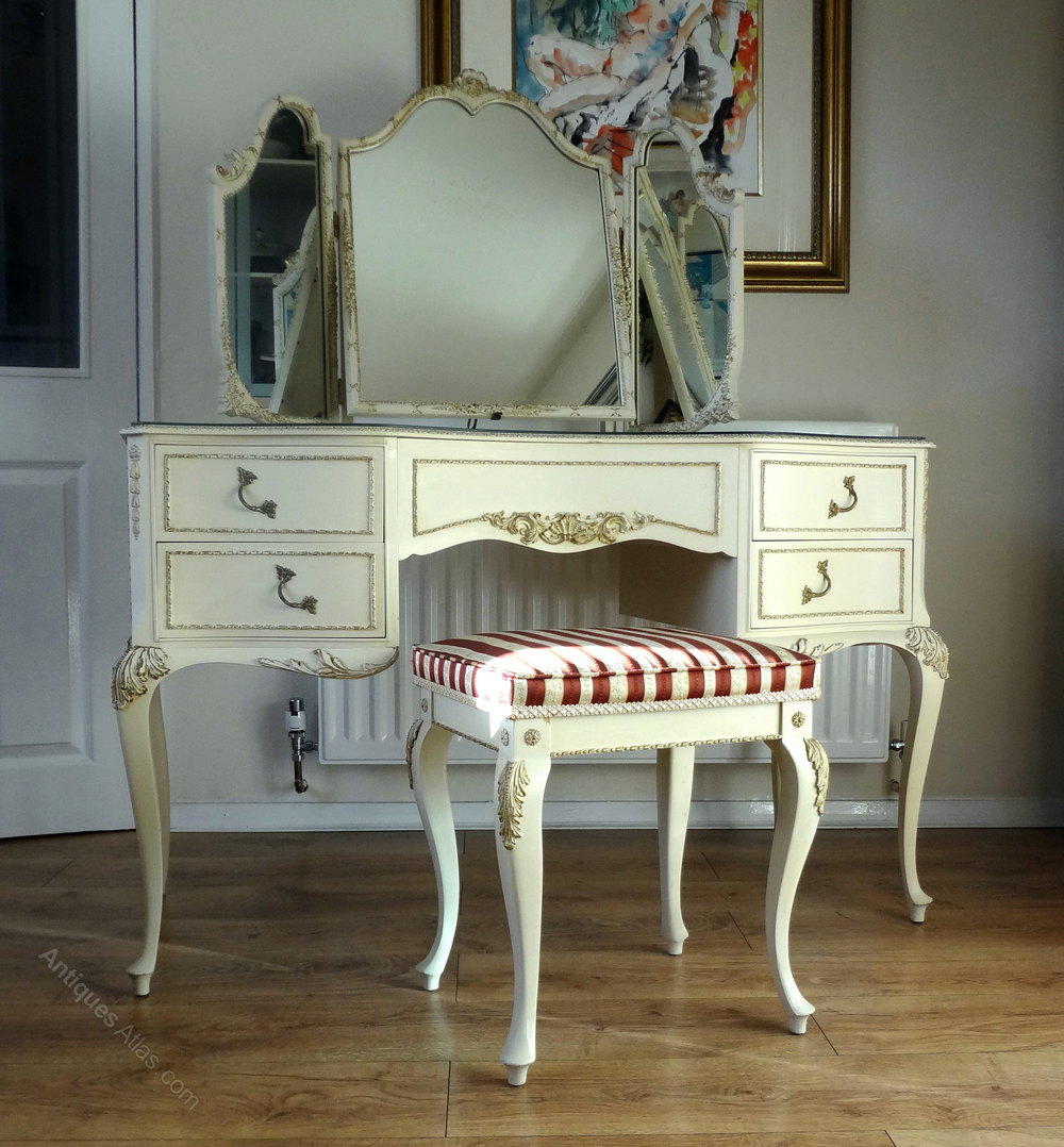 Antiques atlas painted french louis dressing table stool