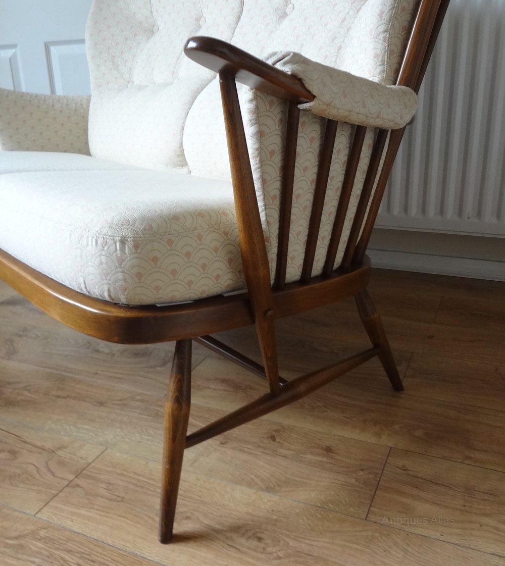Antique Ercol Sofa: Retro Ercol Windsor Golden Dawn Sofa