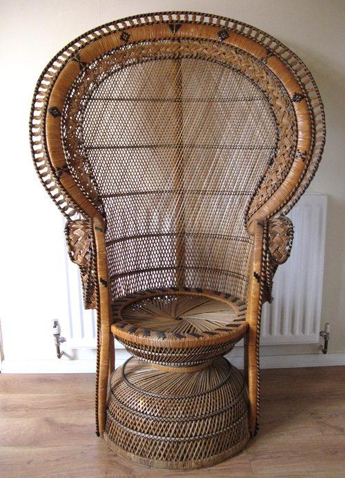 peacock wicker chair wholesale 1