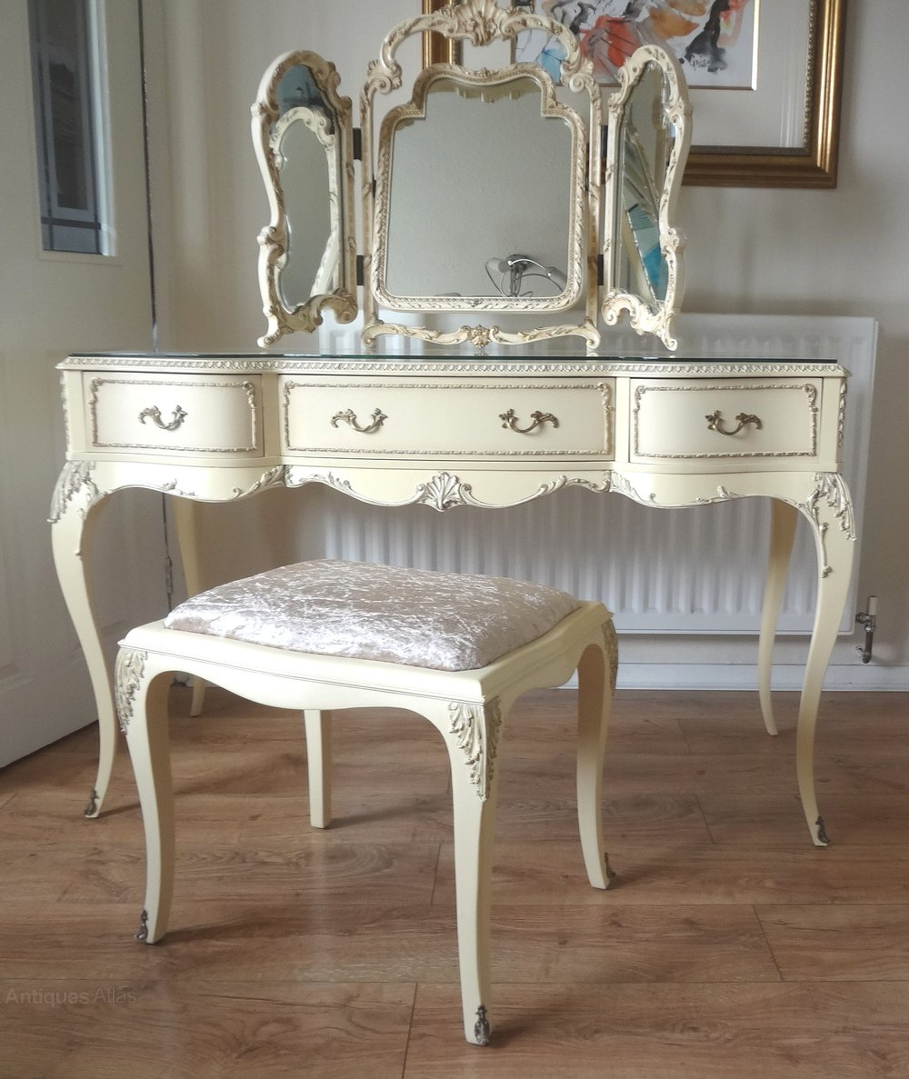 Antiques Atlas Vintage French Louis Painted Dressing Table