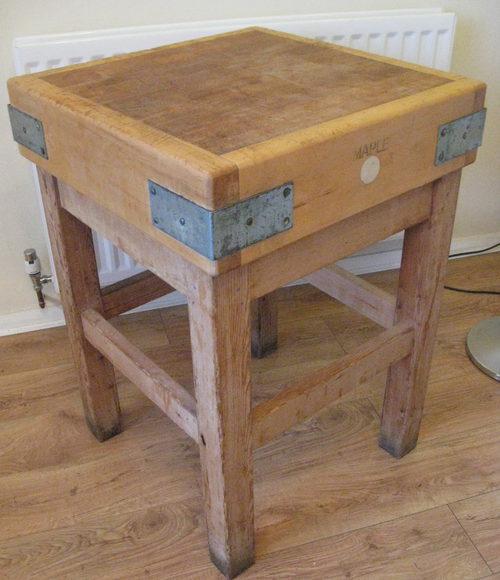 antiques atlas vintage maple butchers block