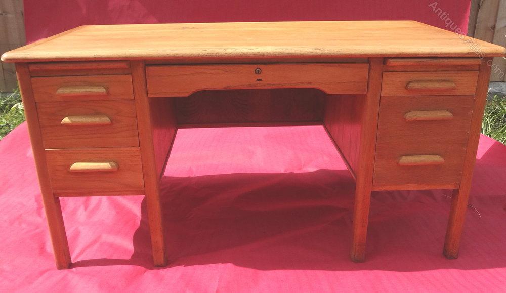 Antiques Atlas Vintage Oak Office Desk