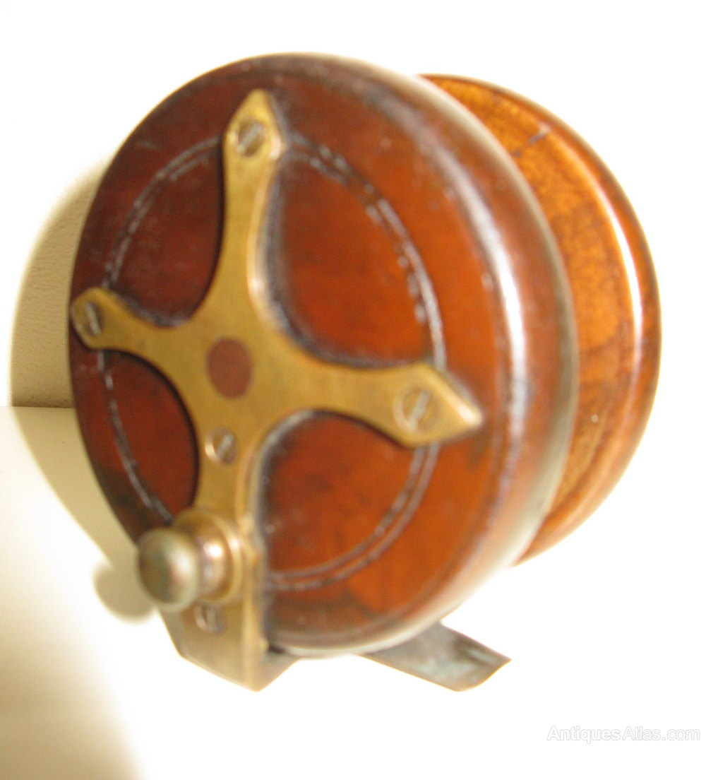 Antiques atlas vintage starback fishing reel for Old fishing rods worth money