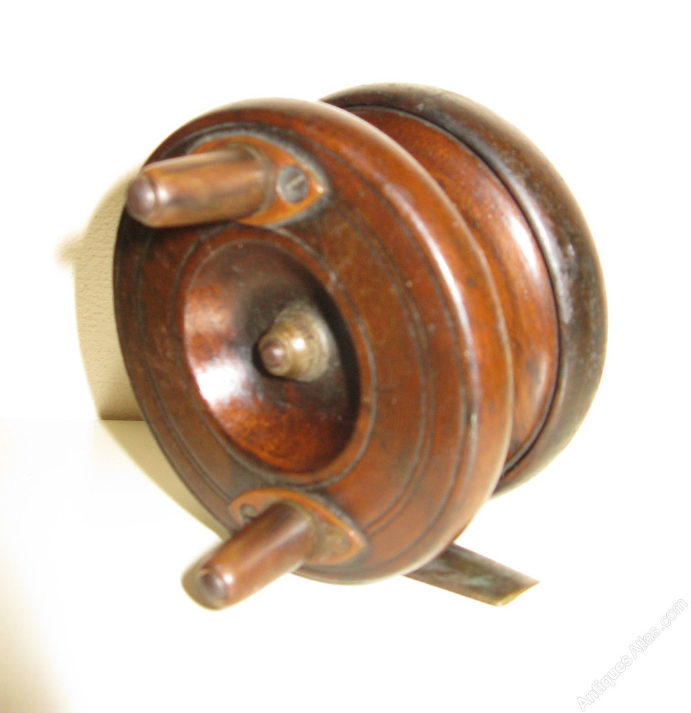 Antiques atlas vintage starback fishing reel for Vintage fishing reels