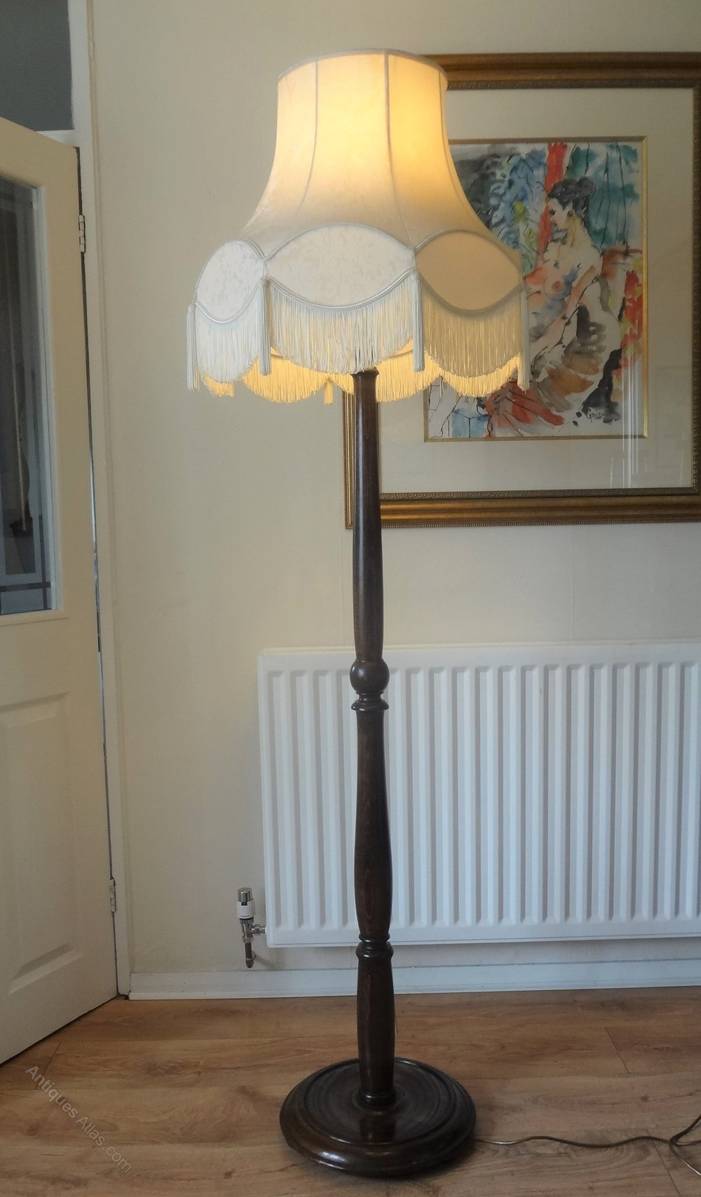 Antiques Atlas Floor Standing Oak Standard Lamp C 1930s