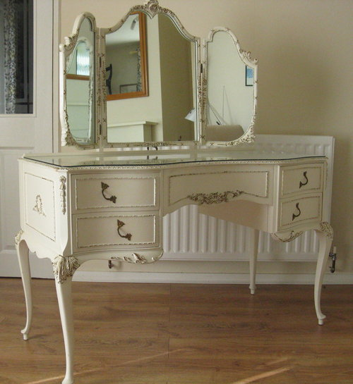 Painted Dressing Table ~ Antiques atlas french louis painted dressing table
