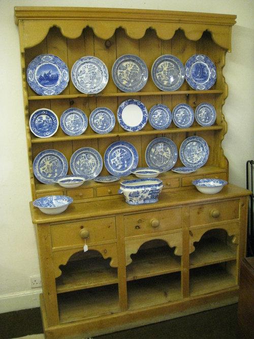 Antique Pine Farmhouse Kitchen Dresser