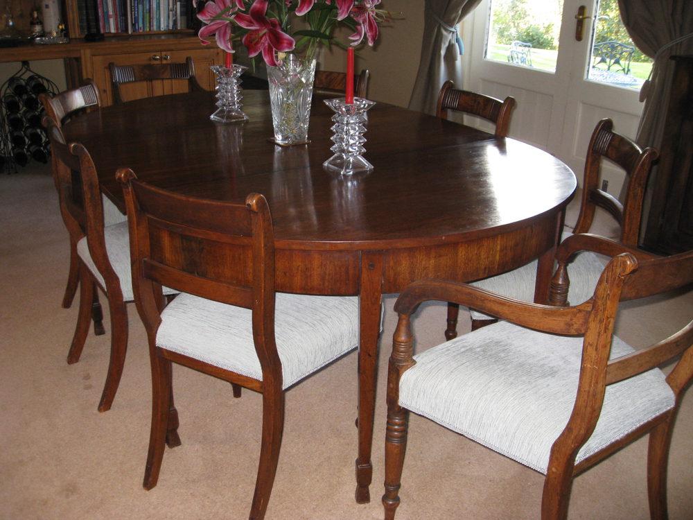Georgian mahogany dining table antiques atlas for Mahogany dining table